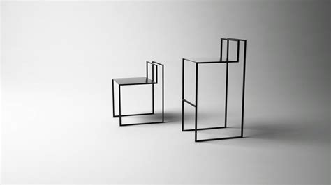 minimalist design minimalist chairs concept in wireframe design gentle