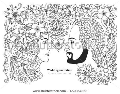 anti stress colouring book the works vector illustration greeting card valentines stock