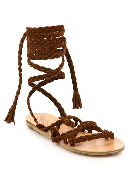 gladiator sandals ancient sandals kariatida suede gladiator