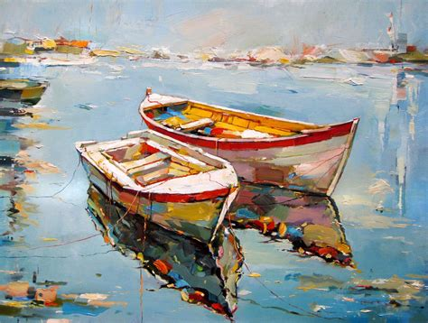 fishing boat art work georgi kolarov buscar con google pintura pinterest