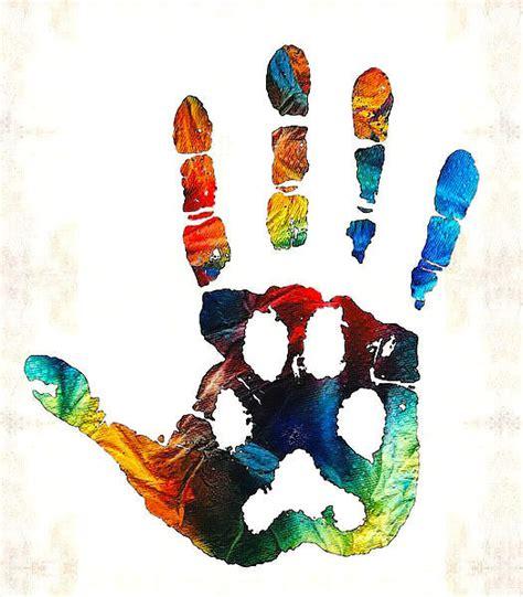 colorful animal print hand tattoo design