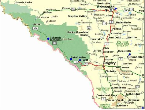 canadian mountains map map of rocky mountains in canada map travel
