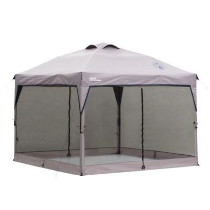 instant up screen house with awnings the coleman instant canopy screen wall can be used in