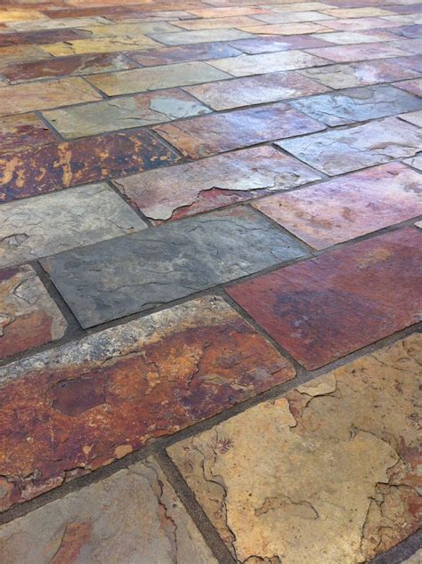 slate tiles for patio colorful and rich slate tile with copper accent colors by