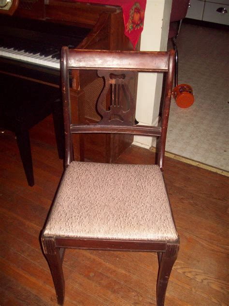 vintage early lyre dining room chairs collectors weekly