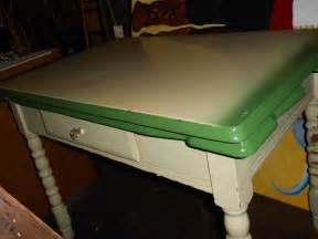 vintage retro metal top green kitchen table with fold