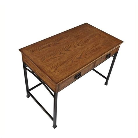 Distressed Computer Desk Hawthorne Collections Computer Desk In Distressed Oak Hc 489377
