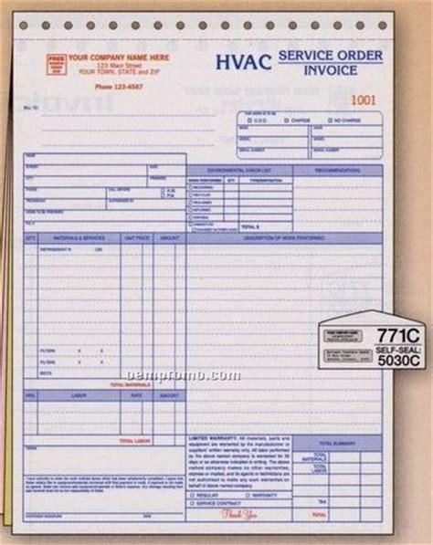 hvac service order invoice  environmental checklist