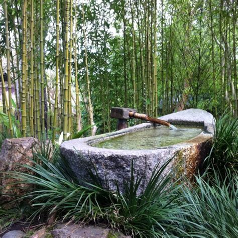 japanese fountain for ablution before prayer ohara japan asia