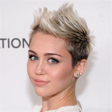 miley cyrus short haircut 2013 miley cyrus oscars party 2013 hair popsugar beauty
