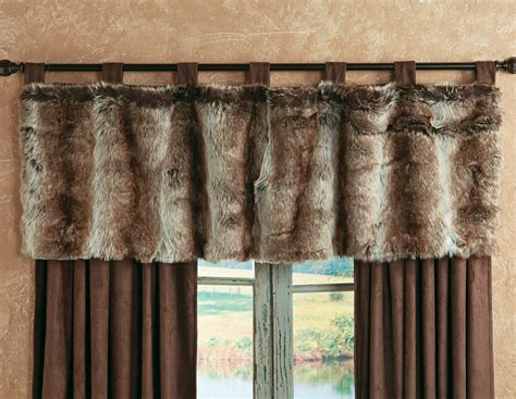 fur curtains chinchilla faux fur valance clearance