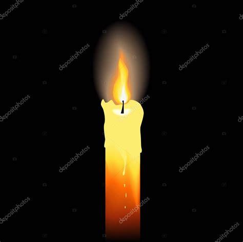 stock candele candela accesa su sfondo nero vettoriali stock