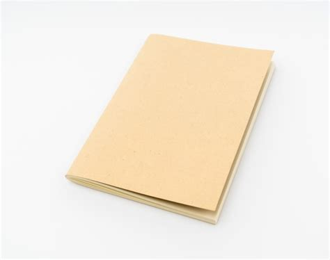 Paper Books - recycled paper book on white background photo free