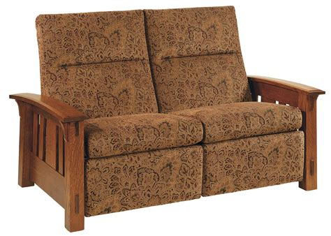 mission loveseat recliner amish mccoy mission recliner loveseat with optional power