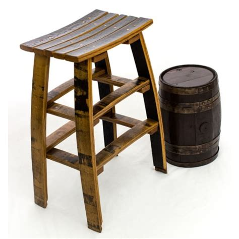 Stave Stool by Wine Stave Bar Stool Made Entirely From Recycled Barrels