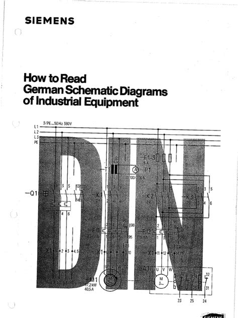 how to read a schematic diagram how to read german schematic diagrams of industrial