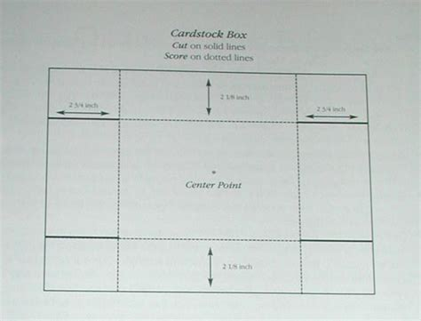 templates for cardstock boxes gift box pattern
