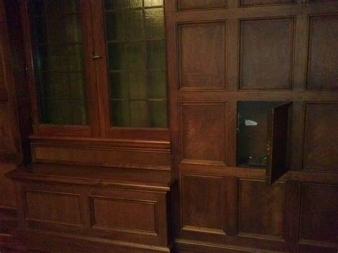 Bookcase Gun Cabinet Secret Compartment In Wooden Office Wall Stashvault
