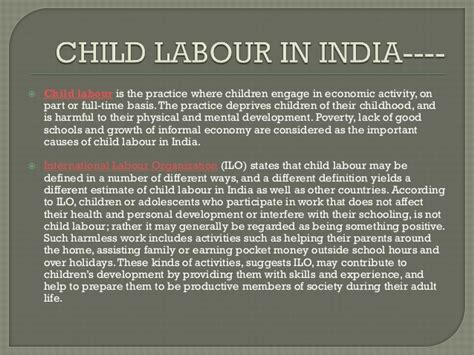 Essay Problem Child Labour India by College Essays College Application Essays Child Labour