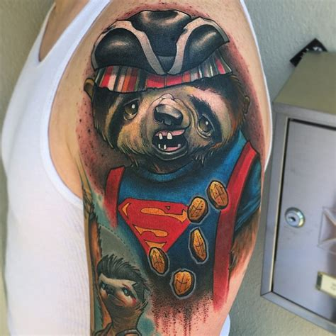 goonies tattoo sloth tattoos designs ideas and meaning tattoos for you