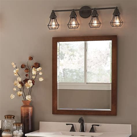 master bath kichler lighting  light bayley olde bronze bathroom vanity light  lowescom