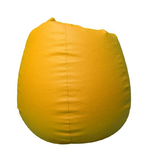 pebbleyard xxl classic yellow bean bag with beans by