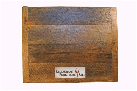 36 quot square sanded reclaimed wood restaurant table top