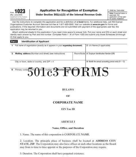 %name Bylaws For Nonprofit Organizations Template