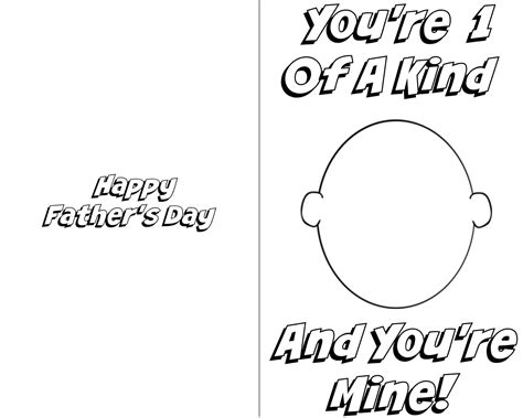 fathers day template fathers day card printables template update234