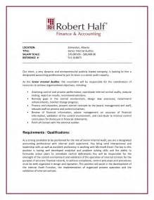 Job Promotion Resume by Internal Auditor Cover Letter