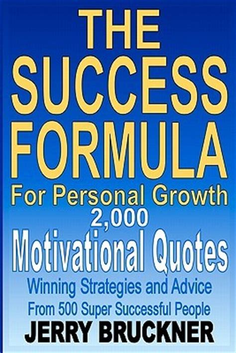 a formula for success books the success formula for personal growth 2 000