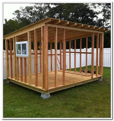 cheap storage shed plans  fleury pinterest