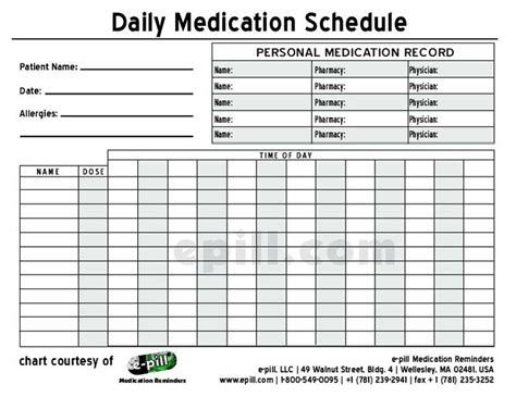 Free Daily Medication Schedule Free Daily Medication Chart To Medicine Pinterest Pharmacist Schedule Template
