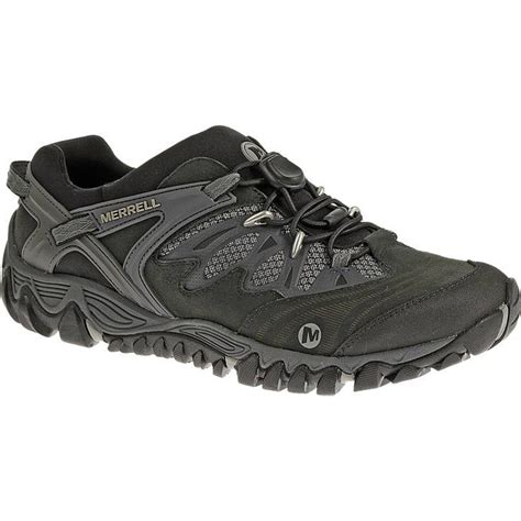 merrell s all out blaze stretch hiking shoes black silver