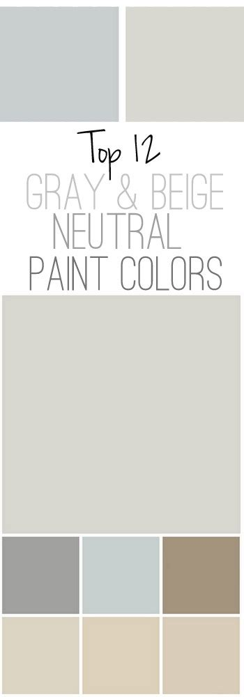 our top 12 neutral paint colors