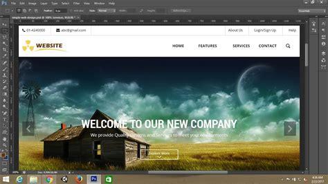 yt 38366 photoshop tutorialsimple webpage template design