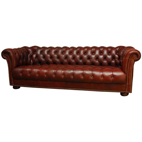 tufted leather sofas classic tufted leather chesterfield sofa at 1stdibs