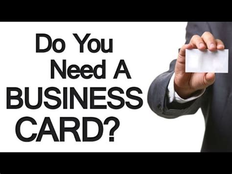 Do I Need Business Cards As An Mba by 4 Reasons You Need A Business Card The Importance Of