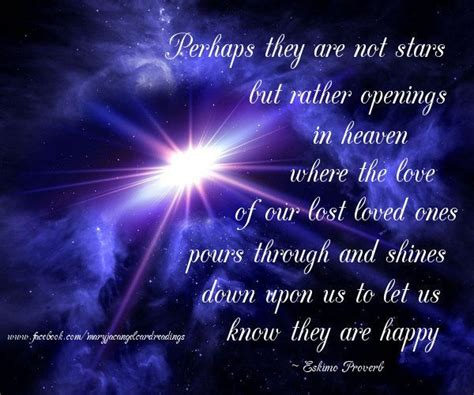 comforting words for grief perhaps they are not stars but openings in heaven
