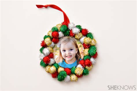 photo christmas ornaments kids can make