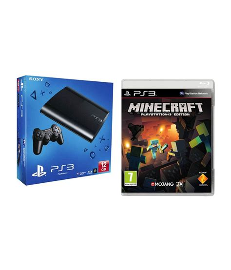 Ps3 Buyers Given Freebies By Sony by Buy Sony Playstation 3 12 Gb Black With Minecraft Ps3