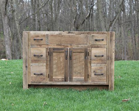 rustic vanity 48 reclaimed barn wood w paneled doors