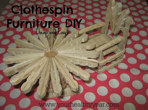 clothespin crafts diy furniture that is cheap and - Clothespin Crafts