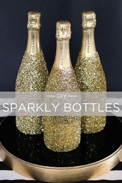 gold   diy sparkly bottles evite