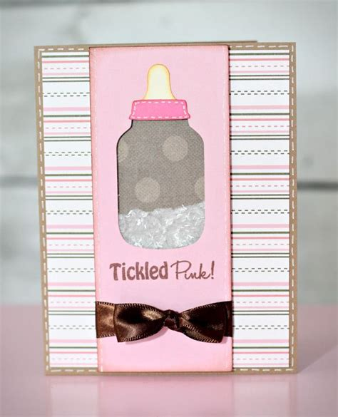 make a baby shower card tutorial on how to make a shaker box card how to