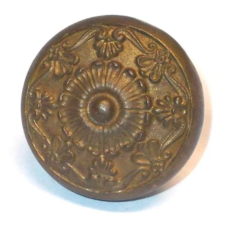 antique decorative brass door knob 163 7 89