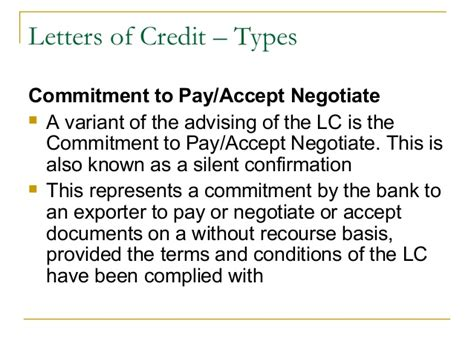 Commitment Letter To Pay Debt Trade Finance Identification Of Needs And Product Offerings
