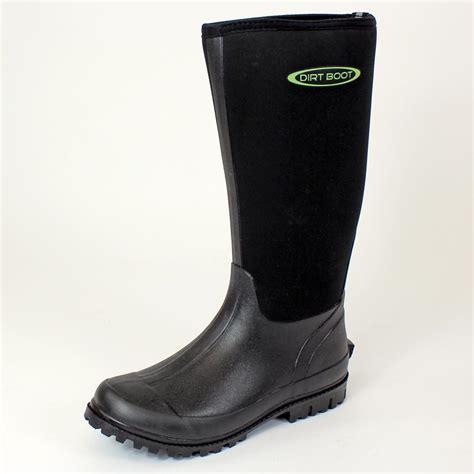 dirt boot dirt boot neoprene wellington muck boot womens mens black