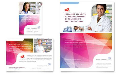 pharmacy brochure template free pharmacy school flyer ad template design