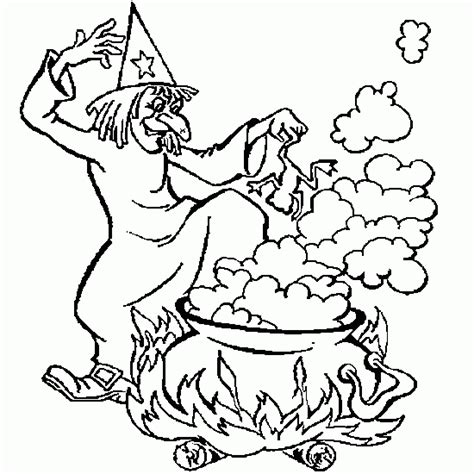 free coloring pages of halloween cauldron